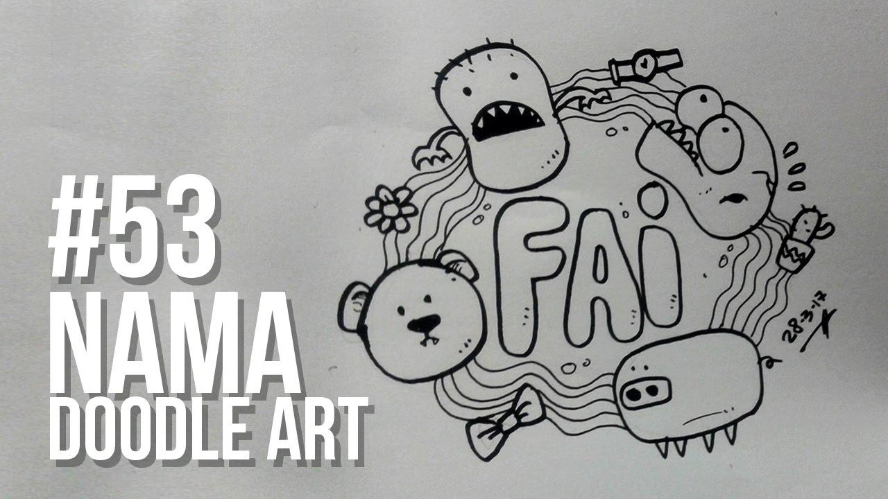 Gambar Doodle Nama Simple