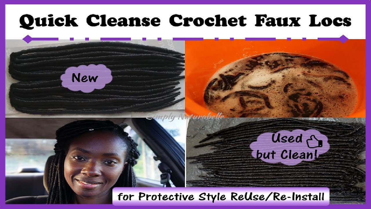 Reuse Crochet Locs How I Quick Cleanse Crochet Faux Locs For Re Installation