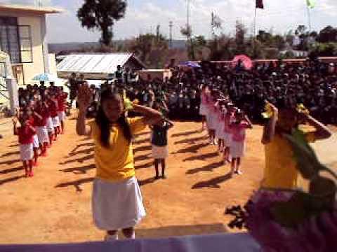 Unitarian Secondary School Puriang Students playing Mass Drill Travel Video