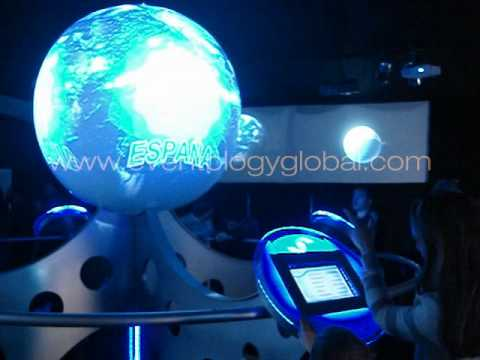 Earth globe 360 interactive projection - Provincia 25 @ Bicentenario