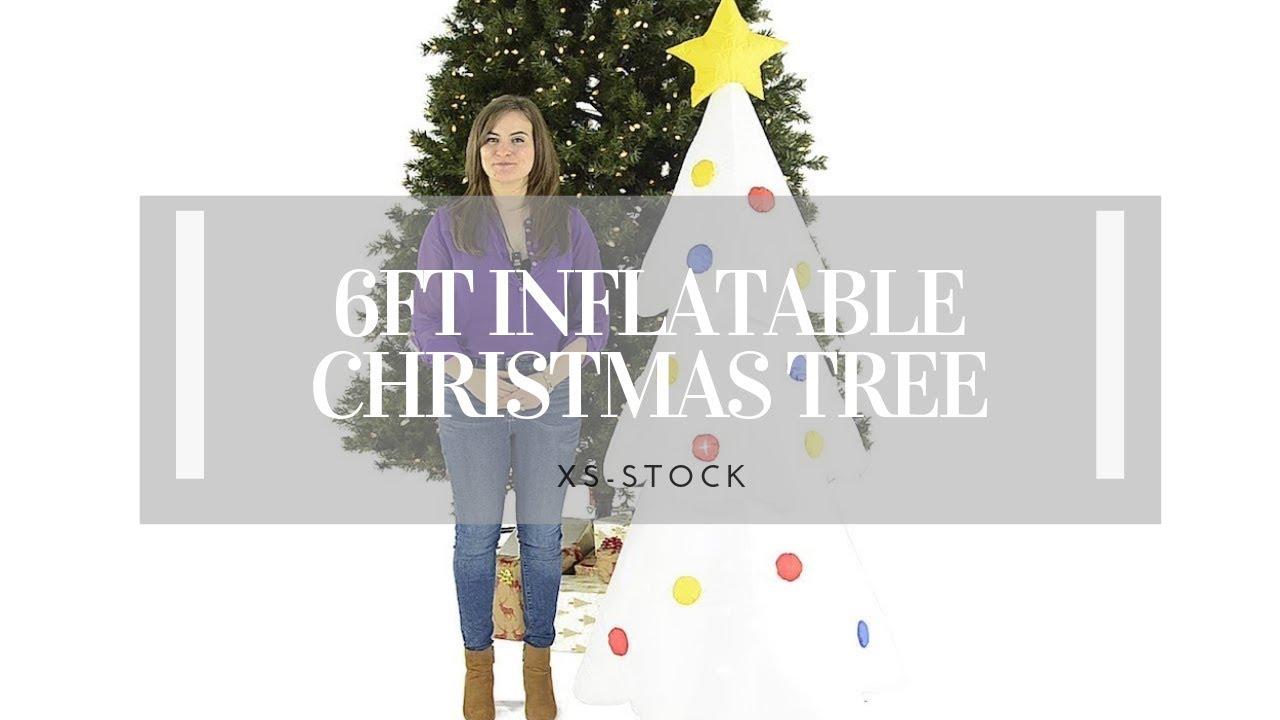 Giant 6FT Inflatable Christmas Tree - YouTube