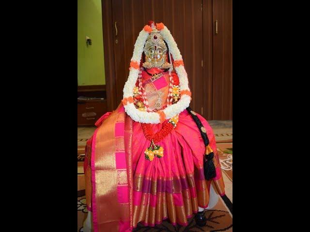 Simple Varamahalakshmi Decoration / ????????? ???? ?????? ????? / ??????? ???? ?????? ?????