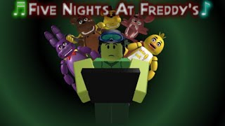 """STAY CALM"" Five Nights At Freddy's - Roblox Music Video By FUDZ"
