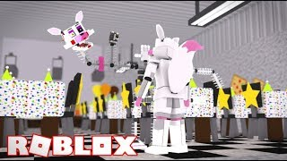 Mangle Meets Funtime Foxy in Animatronic World! (Roblox Roleplay)