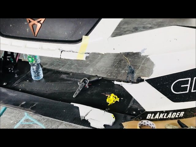 Carbon fiber repair after the crash in TCR Europe at Spa - VLog91
