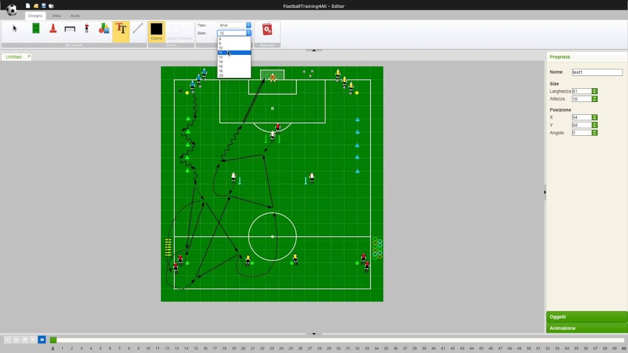 programma di disegno di calcio per creare i tuoi