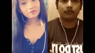 Mere dholna sun by NST krish saj + NST AnnaGrg Smule sing karaoke