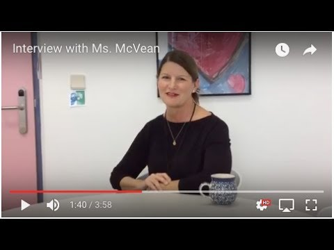 Interview with Ms. McVean