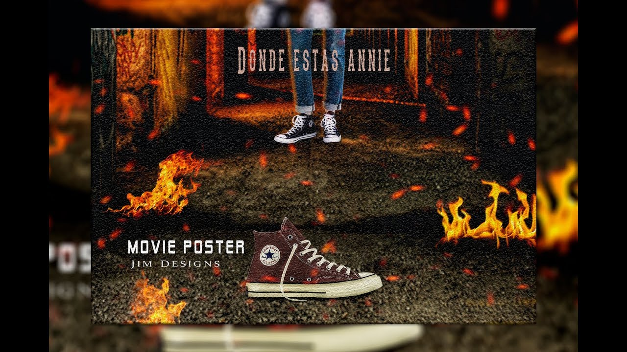 Photoshop CC Manipulacion movie poster – Donde estas annie (Explosion)