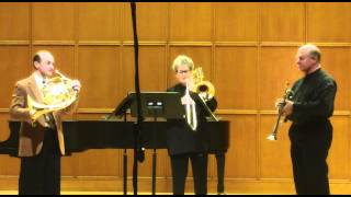 Poulenc Trio for horn, trumpet, and trombone