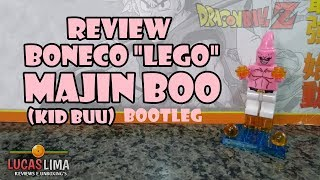Review Boneco Lego Grande do Majin Boo (Kid Buu) - Bootleg DBZ