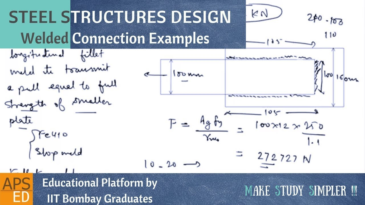 Welded Connection Design Examples | Design of Steel Structures