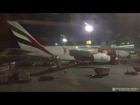 Emirates EK060 Hamburg to Dubai B777-300 (midnight landing in Dubai)