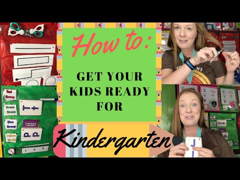 How to prepare kids for Kindergarten