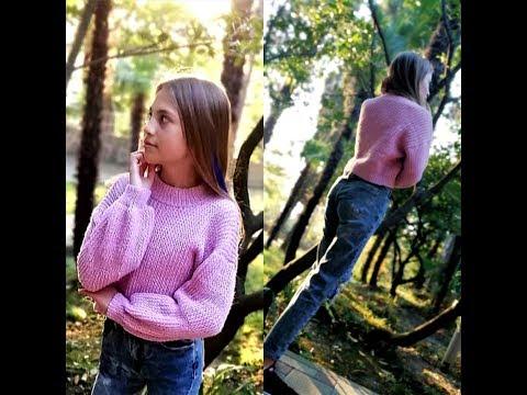 Свитер для девочки 12 лет спицами
