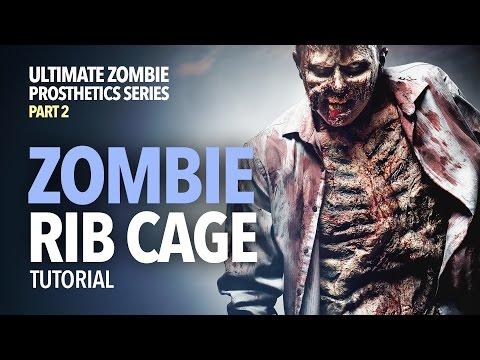 Zombie rib cage prosthetics tutorial