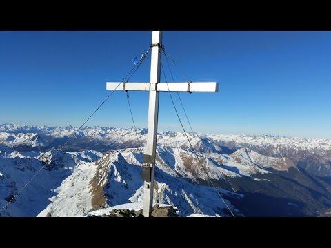 Gipfelpanorama Glockturm (3353m) - Ötztaler Alpen