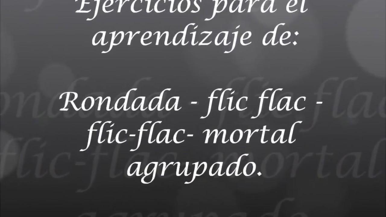 GAMYF Progresión rondada flic flac flic flac mortal atrás agrupado