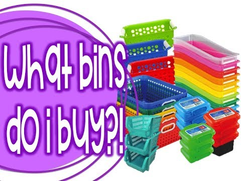 What Bins Should You Buy?! Target, Dollar Tree, ReallyGoodStuff, & More!