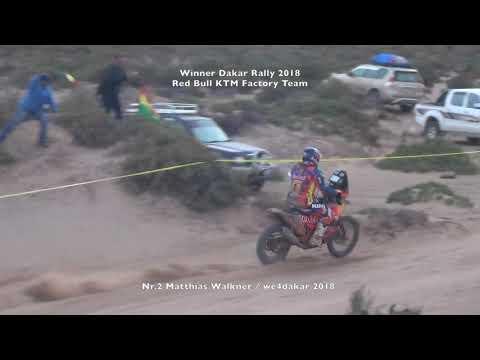 Winner Dakar Rally 2018, Bikes Nr.2 Matthias Walkner Red bull ktm racing team; We4dakar 2018 Mp3