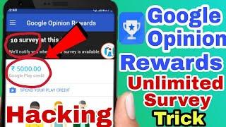 Get Unlimited Survey Google Opinion Rewards Application 2019#Googleopinionrewards