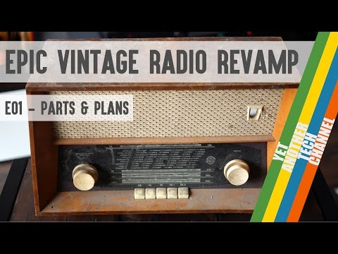 Epic vintage radio revamp project - parts list and plans