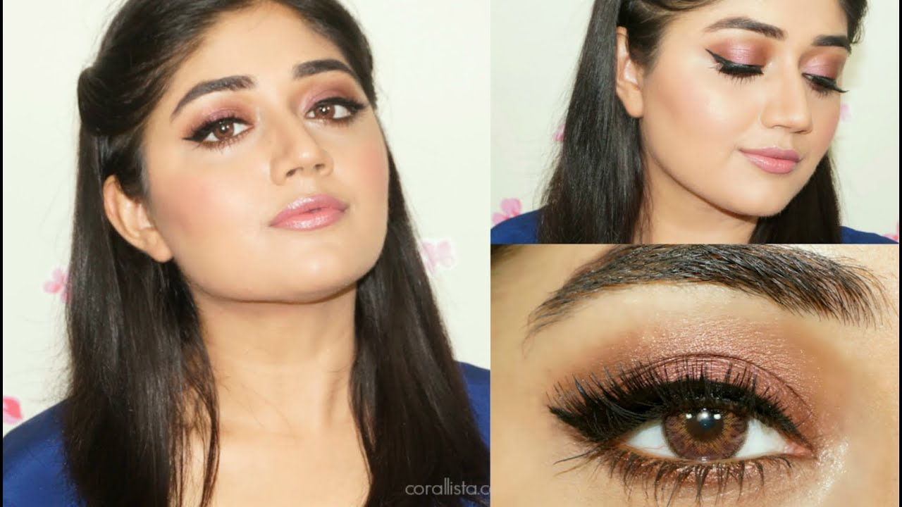 Soft Pink Makeup Tutorial for Indian skin  corallista
