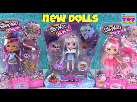 NEW Shoppies Pirouetta Kirstea Gemma Stone Shopkins Doll Review Unboxing | PSToyReviews