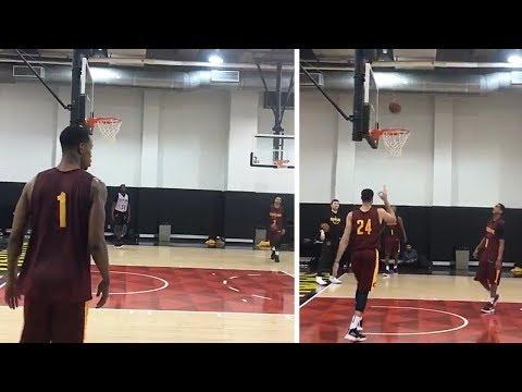 New Cavaliers Players Already Practicing - Jordan Clarkson, George Hill, Rodney Hood, Larry Nance Jr
