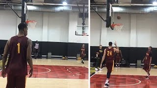 New Cavaliers Players Already Practicing - Jordan Clarkson, George Hill, Rodney Hood, Larry Nance Jr
