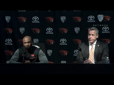 Oregon State football press conference