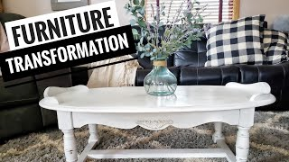 Vintage Coffee Table Transformation | How To: Distress Furniture