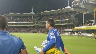 MS Dhoni mass entry in chepauk stadium | Over 12000 fans attended for practice session of csk