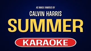 Summer - Calvin Harris | Karaoke LYRICS