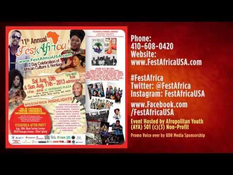 FestAfrica 2013 - Promo - African Festival in Maryland August 10th and 11th