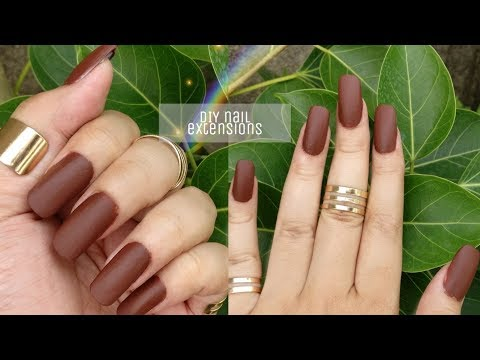 HOW TO DO NAIL EXTENSION AT HOME | DIY | 10 MIN