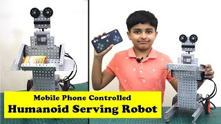 I made a Humanoid Robot - Mobile Phone controlled (हिंदी में) | How to make a Robot with Avishkaar?