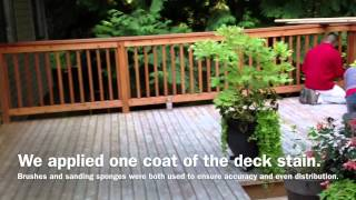 How To Stain Your Cedar Deck With Daly's Deckstain