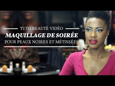 Tuto Beaut Maquillage De Soir E Pour Peaux Noires Et M Tiss Es Youtube