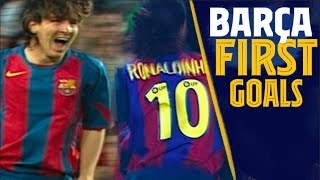 RONALDINHO, MESSI, RIVALDO... Can you remember their first Barça goals?