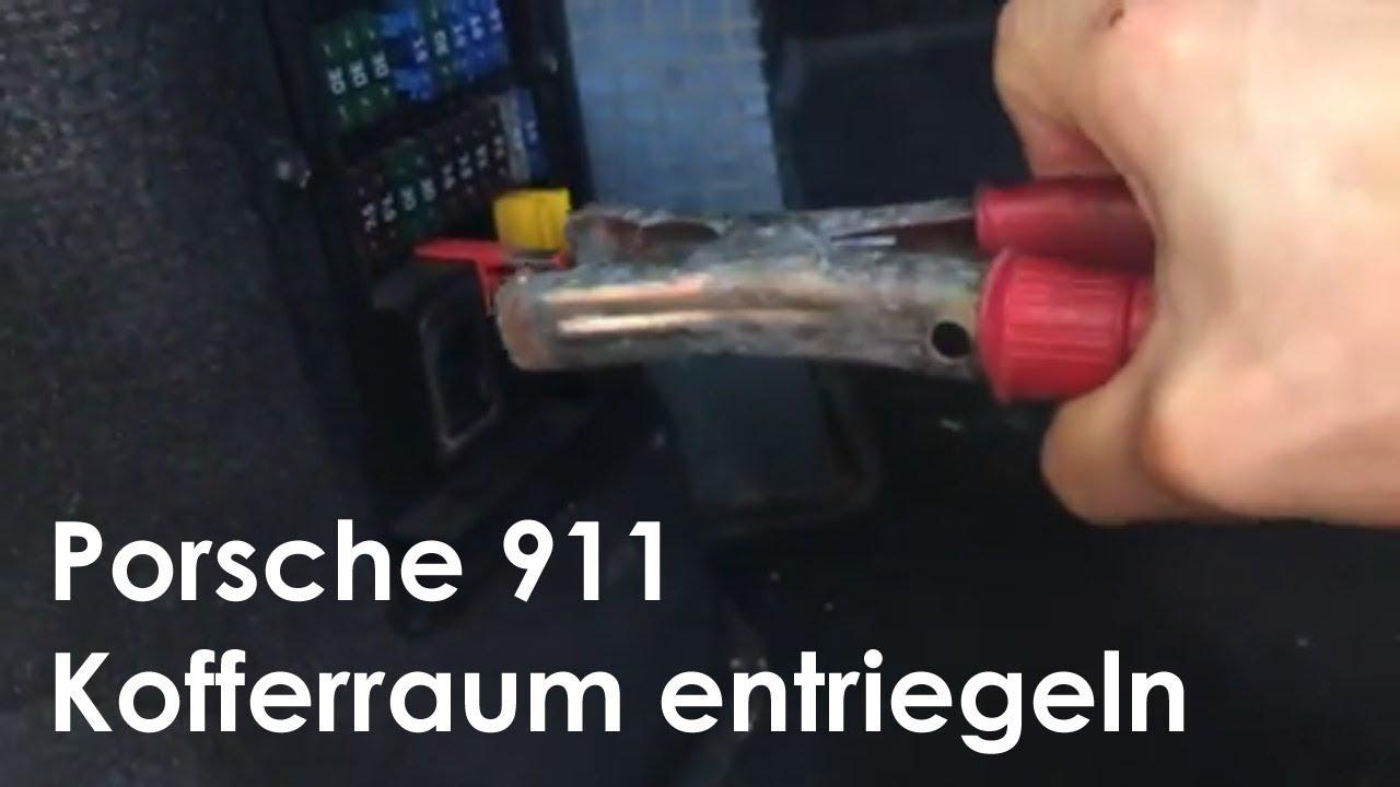 Leere Batterie Beim 911 996 Facelift Kofferraum 246 Ffnen