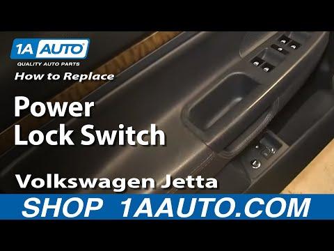 How to Replace Power Door Lock Switch 05-10 Volkswagen Jetta