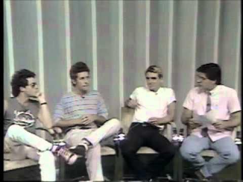 Titãs - Charles Gavin Tony Bellotto e Marcelo Fromer no SP á Tarde com Silvia Popovic em 1986