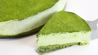 Matcha Green Tea No-Bake Cheesecake (with & without gelatin!) | RECIPE
