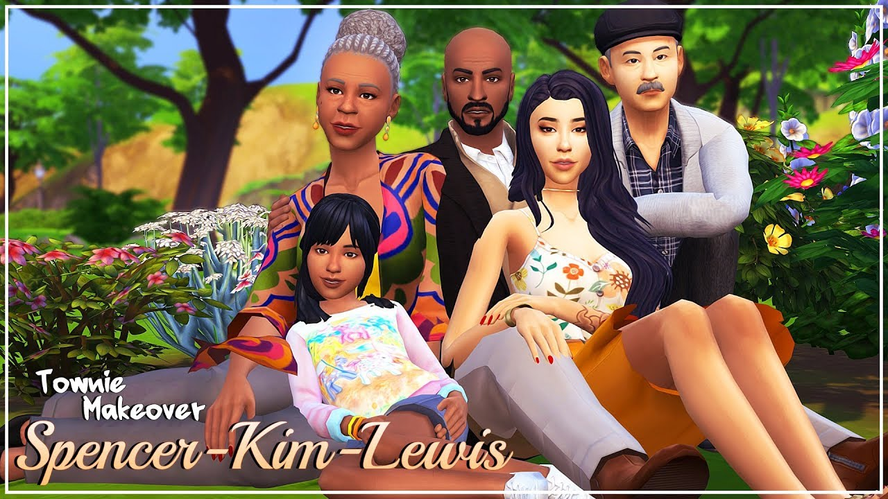 SPENCER-KIM-LEWIS 💕 +46 CC LINKS! (TOWNIE MAKEOVERS) | The Sims 4 | Create  a Sim