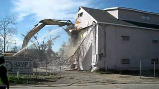 the walls come tumbling down..demolition on airline highway crack hotel