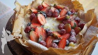 Frische, zitronige Mascarpone Creme Torte mit Beeren & Filoteig - Muttertags Dessert - Kuchenfee