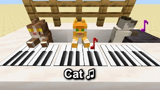 I made Cats play  C418  Cat in Minecraft