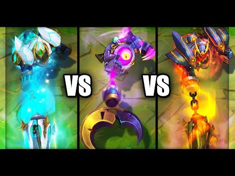 Witch's Brew Blitzcrank vs Lancer Rogue Blitzcrank vs Lancer Paragon Blitzcrank Skins Comparison