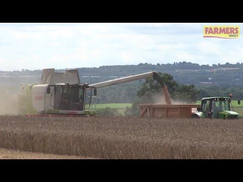 Wheat harvest under way in Shropshire